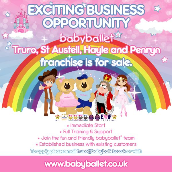 babyballet business for sale Franchise Area Truro, Hayle, St Austell