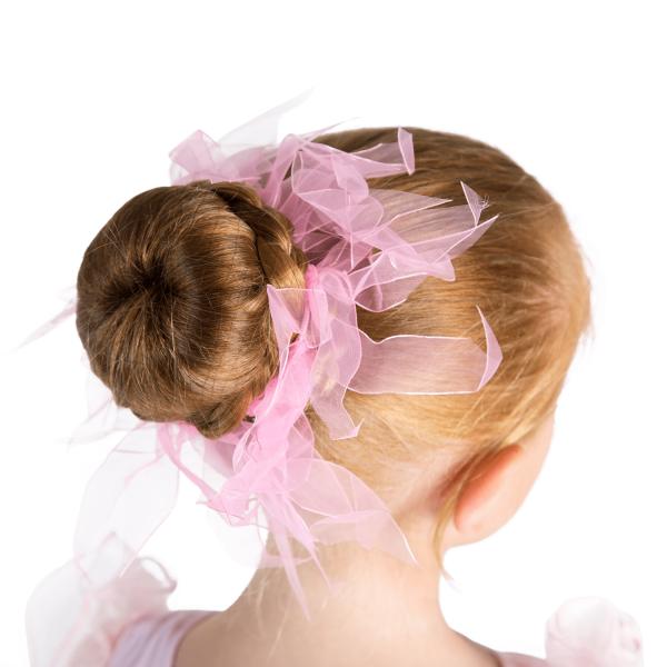 Pink Hair Scrunchie for ballet class