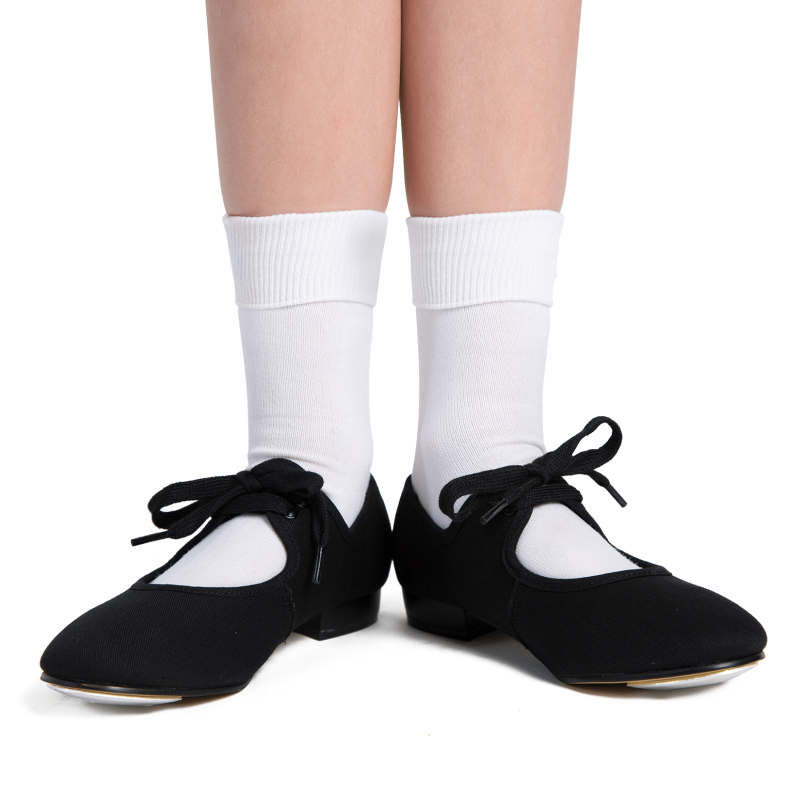 Black Canvas Tap Shoes perfect for little stars dance classes with babyballet