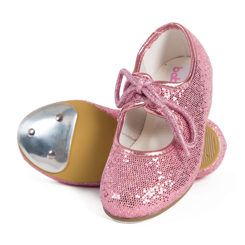 sparkly pink tap shoes