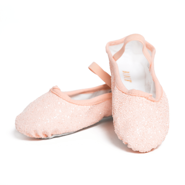 sparkly pink ballet shoes