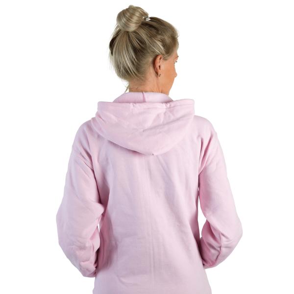 adult babyballet pink overhead hooded sweatshirt
