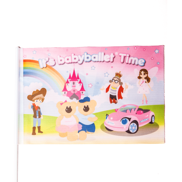 babyballet Flag depicting all baby ballet characters