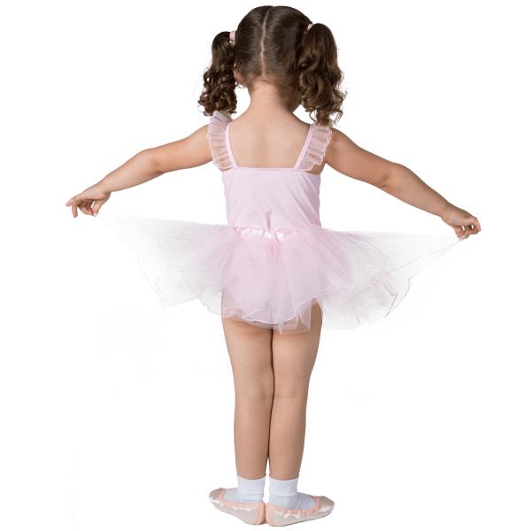 Back of baby ballet uniform lara skirt