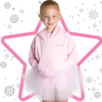 Childs overhead hoaoded sweatshirt-Pink perfect for baby dance classes at babyballet