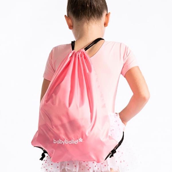 drawstring babyballet logo bag pink perfect for keeping little stars ballet uniform