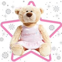 LARGE Twinkle is the cute and adorable babyballet bear. Soft and cuddly, she sports her very own babyballet tutu, so she's always ready for her ballet/dance class. Twinkle is the bear that all the little babyballet stars want to own and love! Suitable from 12 months she is the most perfect company for toddlers and young children as they learn to dance. One supplied.