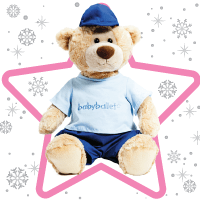 LARGE Teddy the Bear is super-cute, cuddly and a little bit cheeky! He loves having adventures with his cousin Twinkle the Bear and making new friends! He is always ready for babyballet class, dressed in his babyballet uniform. A perfect present for little babyballet stars or anyone who loves teddy bears! Suitable from 12 months he is the most perfect company for toddlers and young children as they learn to dance. One supplied.