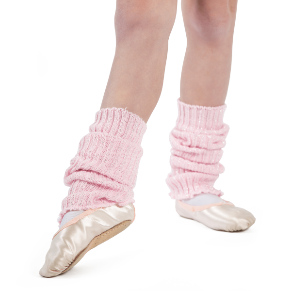 Sparkly Pink Ankle Warmers for tap and ballet class