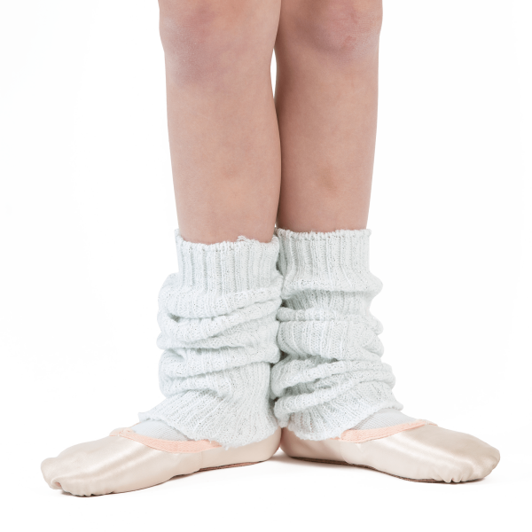 Sparkly White Ankle Warmers for tap and ballet class