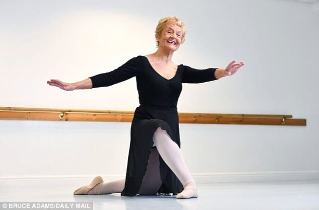 Bruce Adams Daily Mail: Britain's oldest ballet dancer passes elite exam... aged 80: Great-grandmother completes test with a merit 58 years after her last exam. babyballet co-founder Barbara Peters