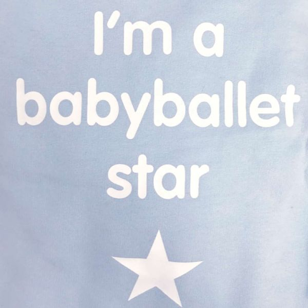 Boys blue babyballet hoody print on back