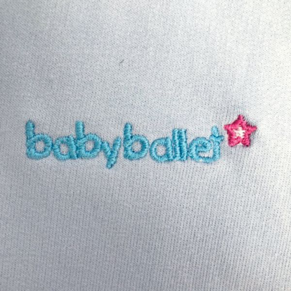 Boys blue babyballet embroidery on front