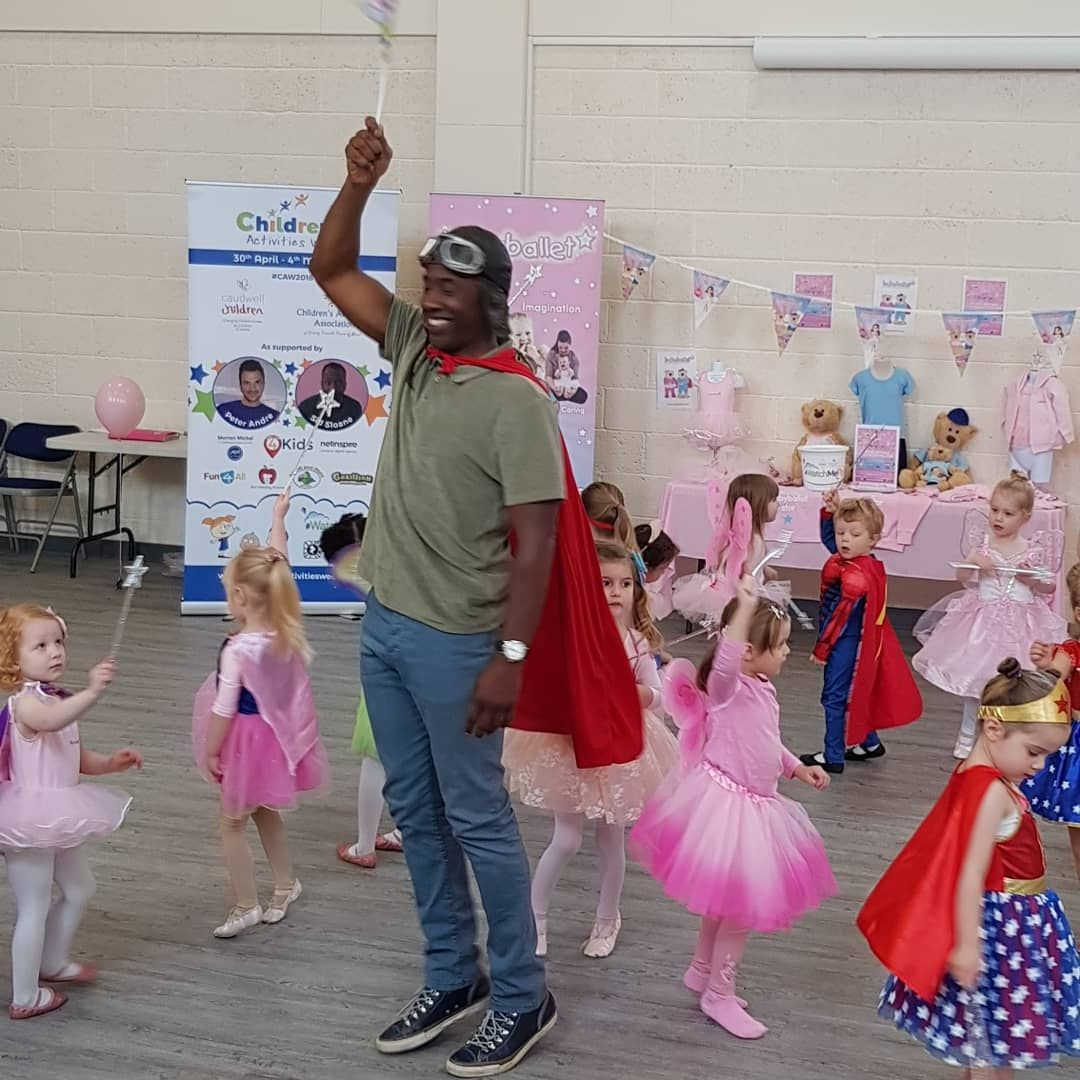 Cbeebies Star Sid Sloane Visits babyballet for Children's Activities Week 2018