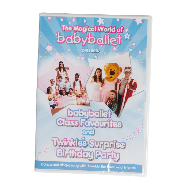 babyballet favourite DVD, the perfect stocking filler and Christmas gift for little boys and girls this Christmas. babyballet bespoke music. Twinkle and Teddy the babyballet bears favourite songs. Dance and sing along to music from class in the comfort of your own home