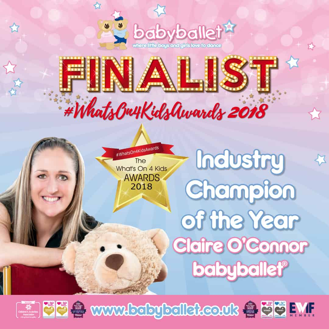 Whats On for Kids Awards 2018 babyballet Finalists Industry Champion of the Year Claire O'Connor
