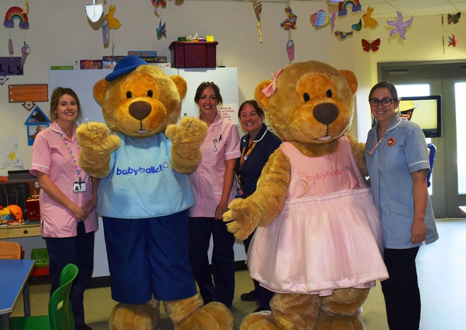 Twinkle and Teddy the babyballet bears up north at the Children's Hospital in Newcastle babyballet North Tyneside