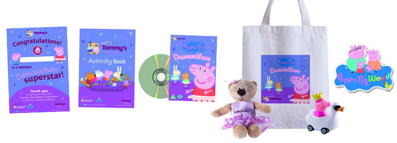 Tommy's the baby charity come together with babyballet and Peppa Pig for Danceathon 2018 - Danceathon prizes