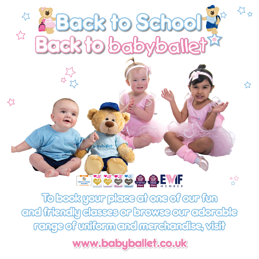 Back to school, back to babyballet classes for children from six months old tots toddlers babies pre-school children