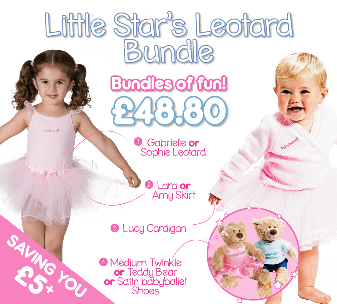 53de6a4c762442 Little Star's leotard & skirt bundle is a beautiful selection of items  which enable you to build the perfect 'separates' starter kit for your  little ballet ...