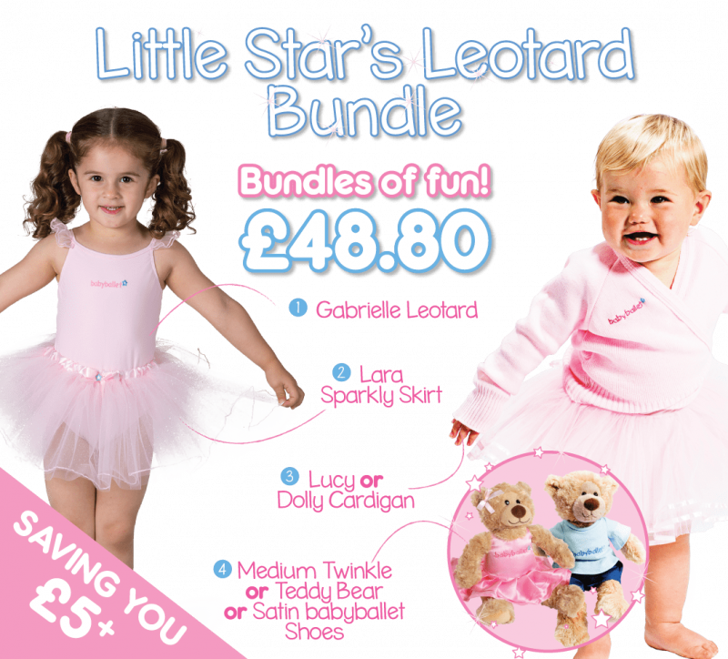Little Star's leotard & skirt bundle is a beautiful selection of items which enable you to build the perfect 'separates' starter kit for your little ballet star.
