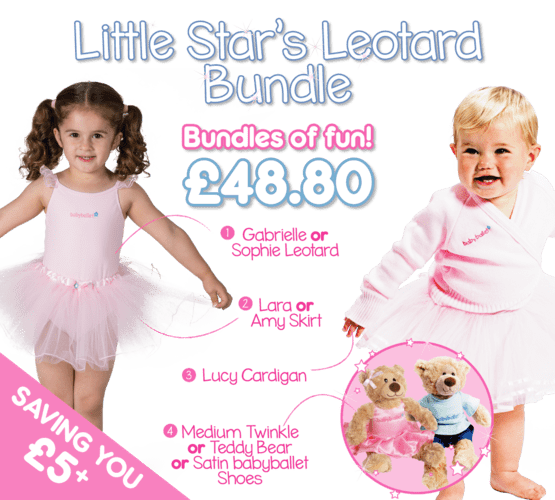 Little Stars Leotard bundle gifting bundle the perfect dancwear uniform pack for girls at babyballet. Tutu, ballet shoes, dance cardigan and babyballet merchandise