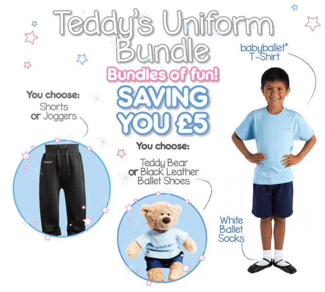 Teddy's Uniform Bundle boys uniform at babyballet from 6 months old tshirt shorts joggers boys wear dancewear