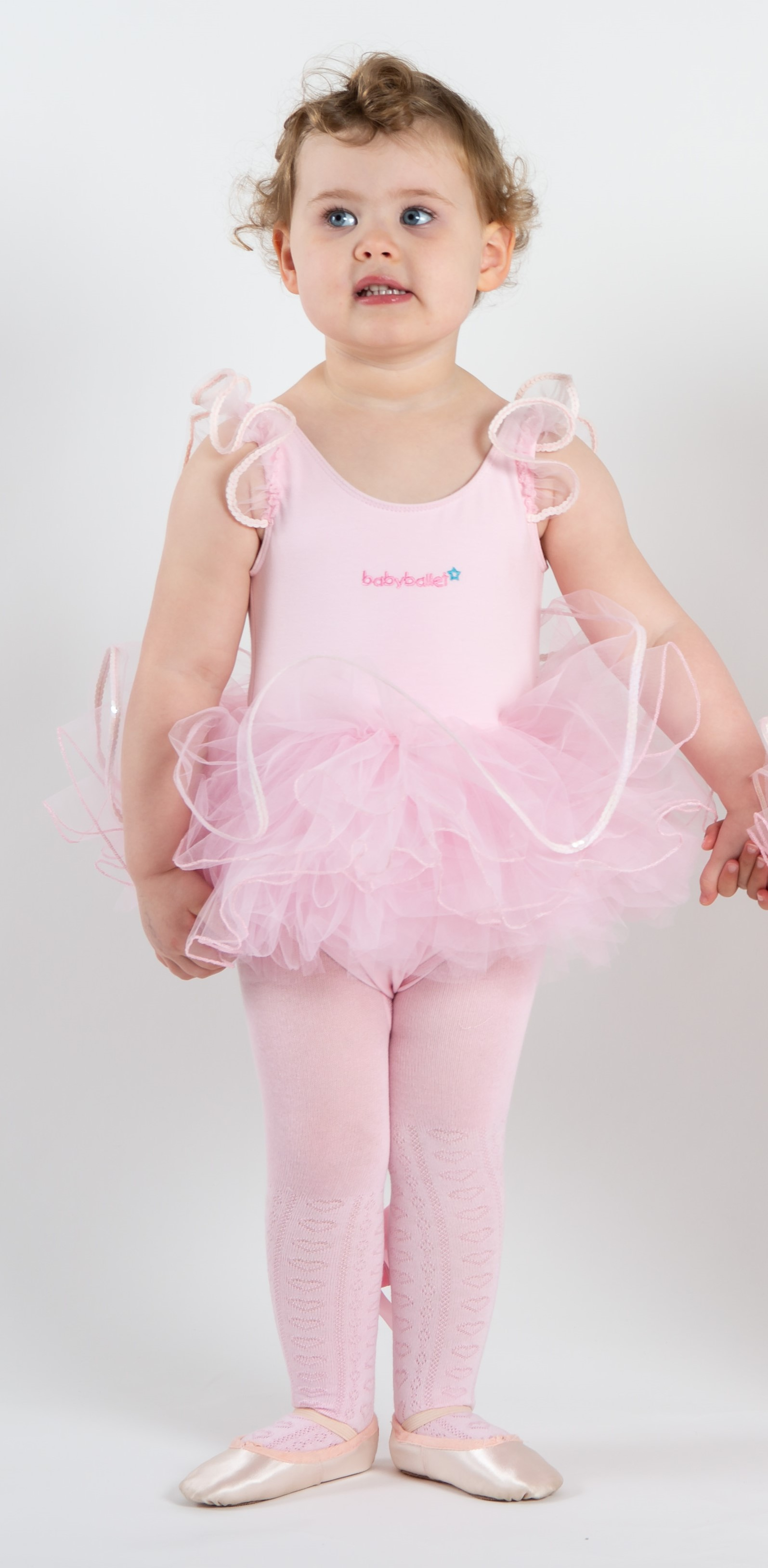 19fbf899eafdb ... bow perfect for baby ballet stars to wear at dance classes · pink  jacquard heart detailed soft cotton tights 2