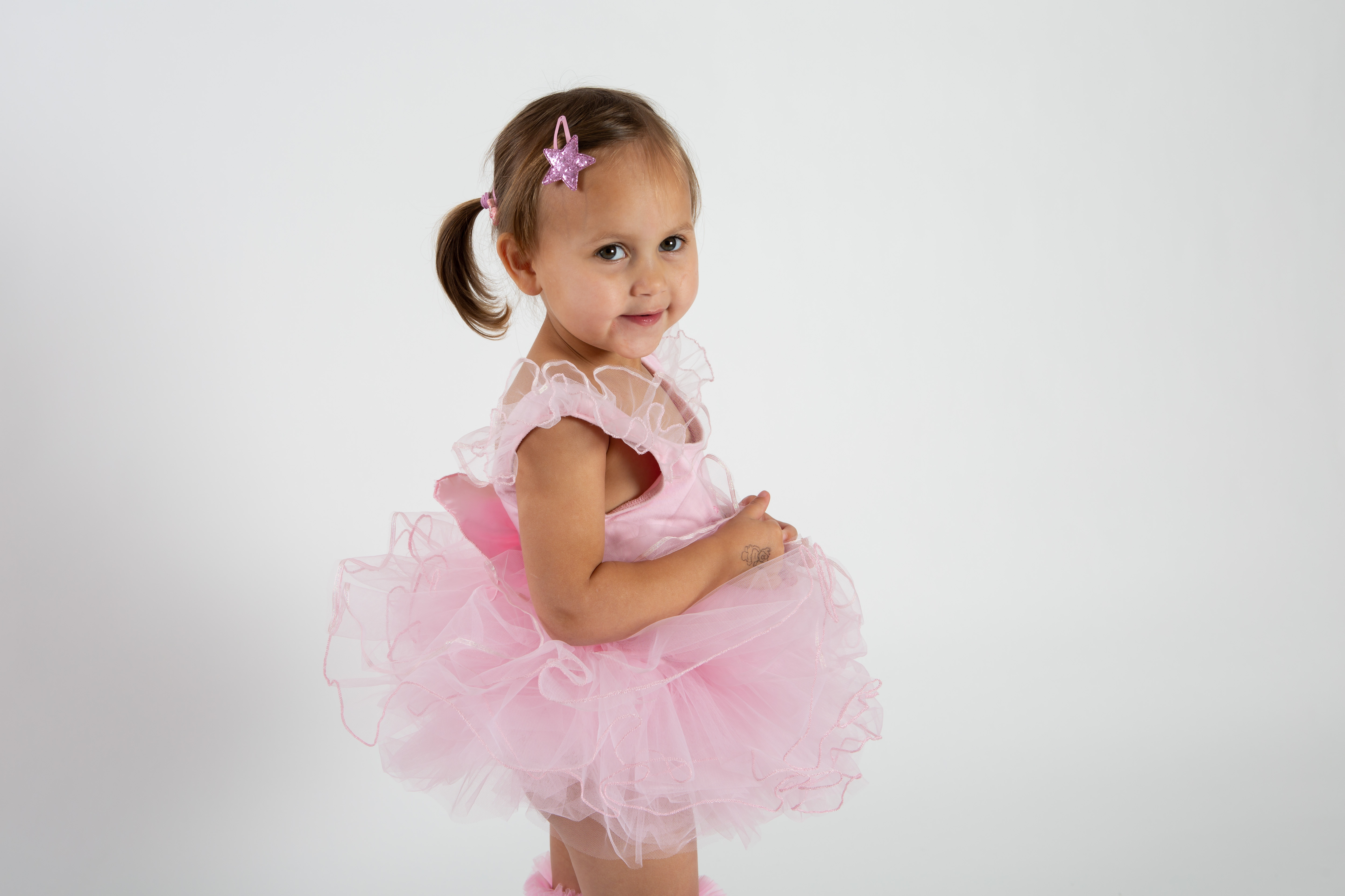 Pink Sparkly Star Hair Clips x 2 » babyballet