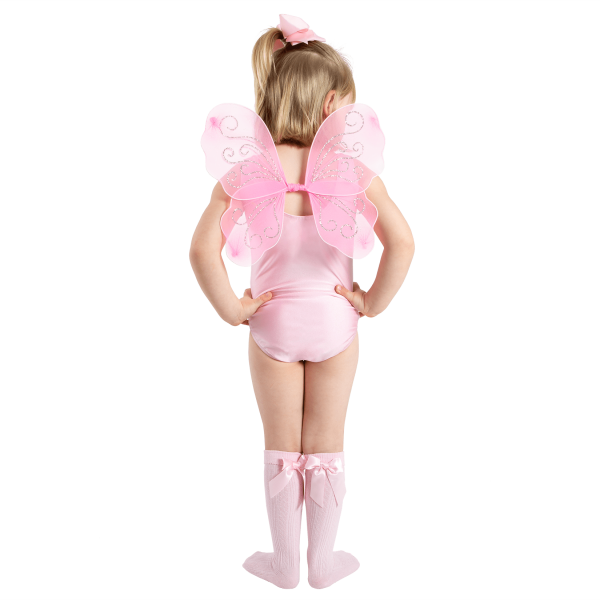Mini wings for little girls to dress up and play in a world of make believe. Perfect gift for Christmas available at babyballet in Pink and White. baby dance outfits, baby pink dancewear, babyballet, babyballet dancewear, babyballet outfits, ballet outfits, childrens fairy wings, christmas presents, gifting, little girls dancewear, little girls wings, pink ballet gifting, pink fairy wings, sparkly fairy wings, sparkly wings, toddler dancing, PINK fairy wings