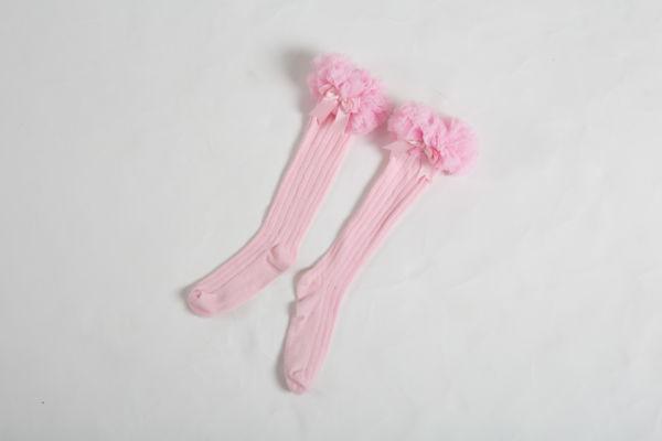 babyballet pink knee high tutu socks 5