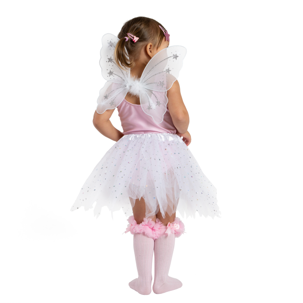 Tutu gift set including sparkly tutu skirt, mini fairy wings and fairy wand. Perfect for young girls dress up, fairy fancy dress, princess costume. pretend to be a fairy princess. Available from babyballet in Pink and White. baby dance outfits, baby pink dancewear baby pink dancewear, babyballet babyballet, babyballet dancewear babyballet dancewear, babyballet outfits babyballet outfits, cute fairy outfit cute fairy outfit, fairy wings fairy wings, girls fairy outfits girls fairy outfits, little girls fairy costume little girls fairy costume, pink fairy dress up pink fairy dress up, sparkly fairy outfit sparkly fairy outfit, white fairy dressup white fairy dressup