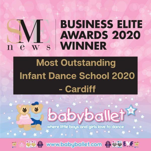 SME BUSINESS ELITE AWARDS 2020 - WINNER babyballet Cardiff - Most Outstanding Infant Dance School 2020 - Cardiff
