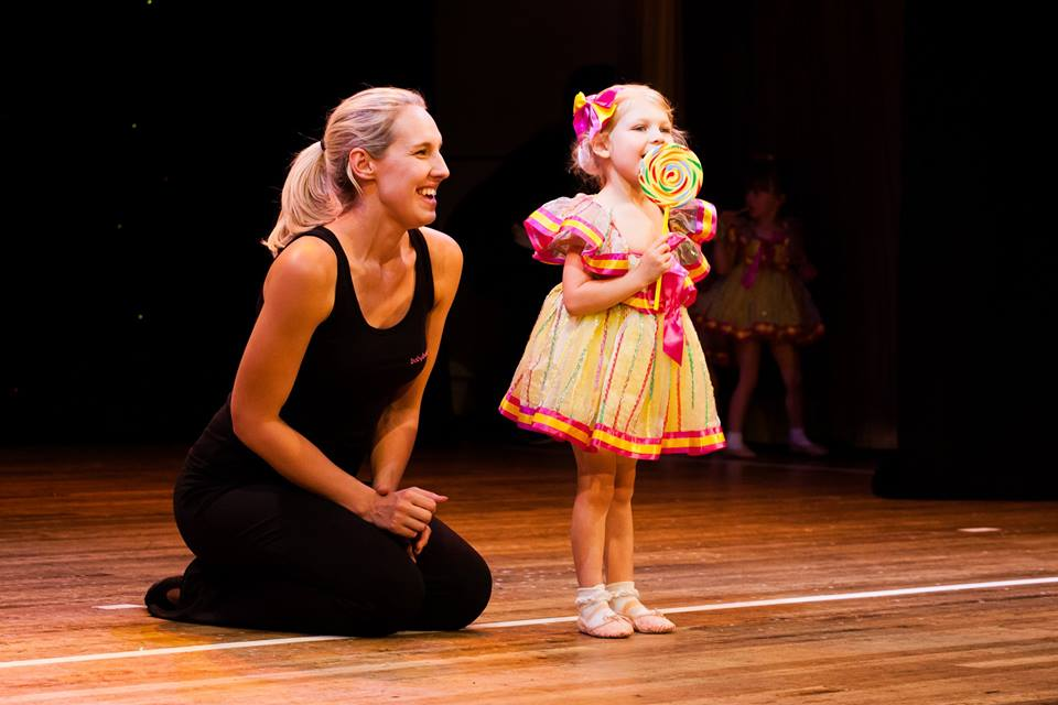 Miss Jessie at the babyballet DBB show - celebrating 10 years of babyballet