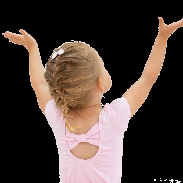 Ballet Bow Cotton Lycra Leotard - Baby Pink - 6 Months - 6 Years