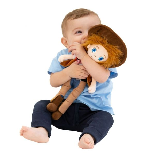 Chuck the cowboy doll from babyballet friends with Woody the toy story cowboy childrens soft toy doll