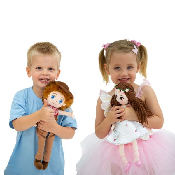 Chuck and Flutterstar dolls from babyballet perfect soft toys for children to play with