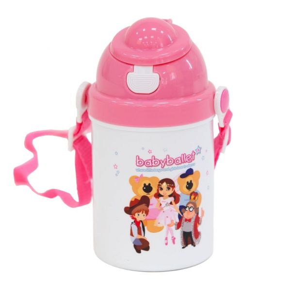 babyballet Child's Drinking Flask Pink 3