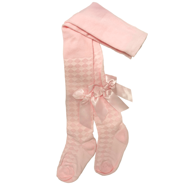 Pink Diamond and Bow Tights from babyballet
