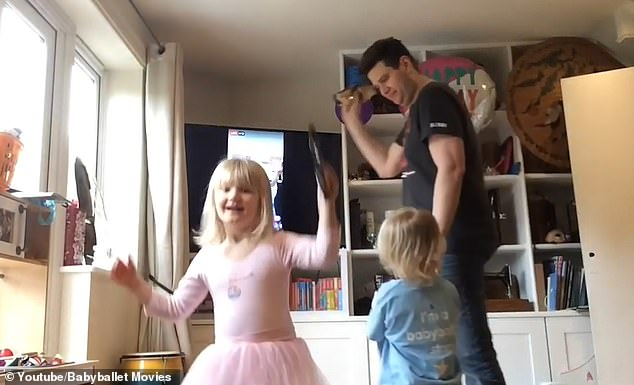 Daily Mail: babyballet family dance at home
