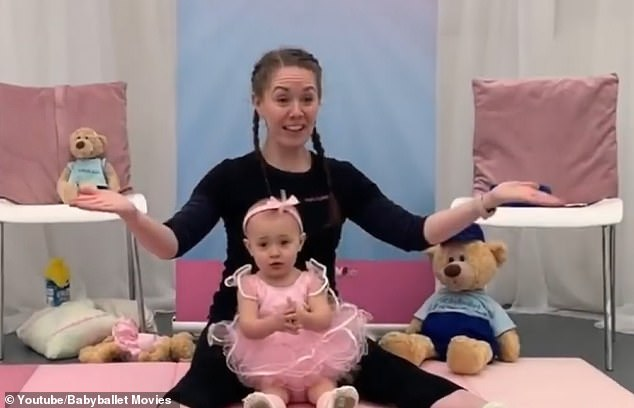 Freya-Bella enjoying her class with babyballet teacher Miss Natalie