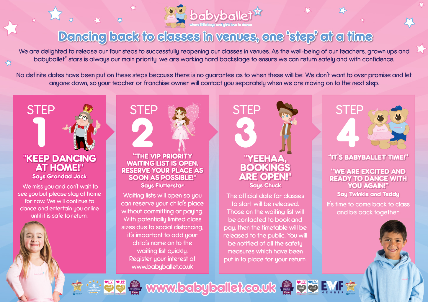 babyballet 4 step plan to return to physical classes after the pandemic