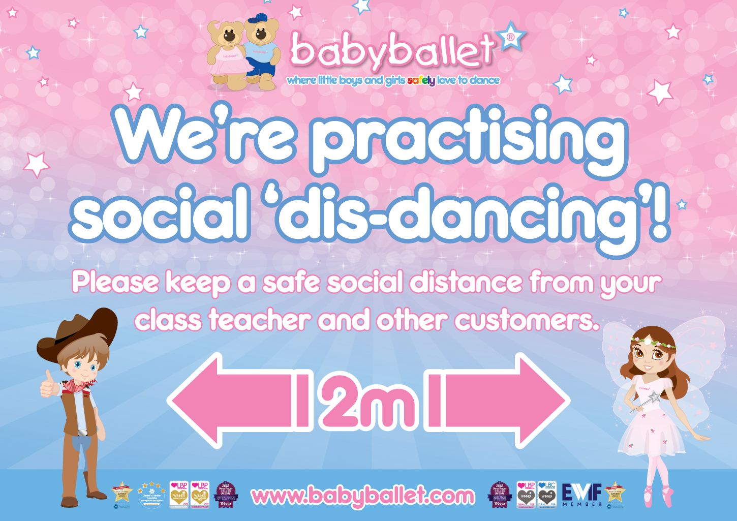 babyballet are practising social dis-dancing in our classes