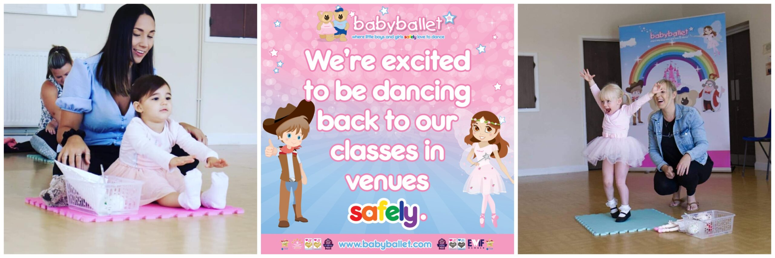 babyballet classes are back with Coronavirus safety measures in place