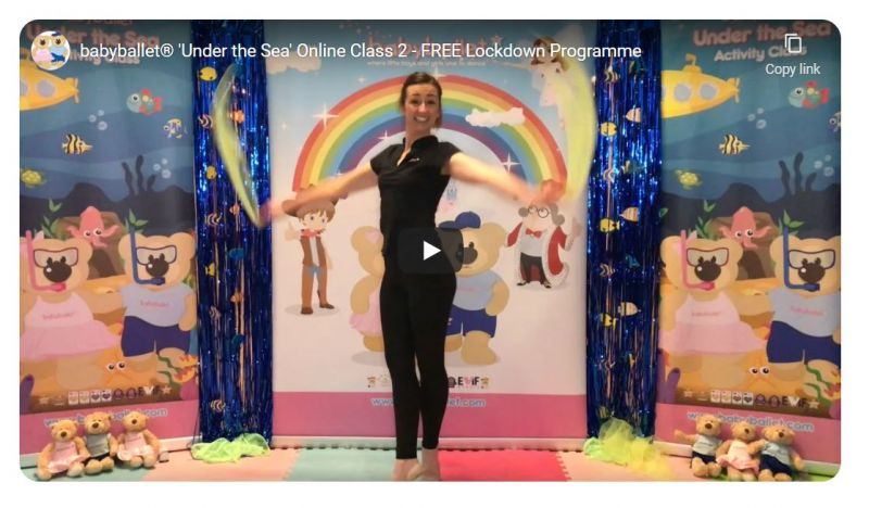 babyballet online classes taught by Miss Holly